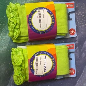 Jefferies lime green footless tights